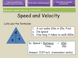 sd and velocity d t s lets use the formulas