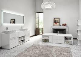 Badezimmer Schrank Mit Weißem Hochglanz Finish Marmor Waschbecken