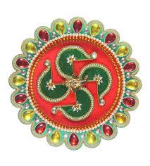 Rakhi Thali Design Hand Crafted Puja Thali Raksha Bandhan Thali Rakhi Thali