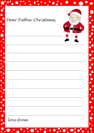 Letter To Santa Template Photo Image With Letter To Santa Template