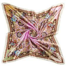 Designer Square Silk Scarves Square Silk Scarf For Women Luxury Designer Brand Ladies