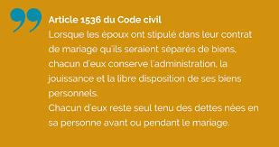 Contrat De Mariage Choisir La S Paration De Biens Legalife