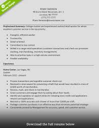 Resume Examples For Cashier Examples Of Resumes