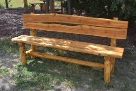 Free Rustic Wood Bench Plans