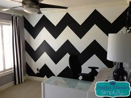Wall Patterns With Tape I Love The Chevron Print A Few Months Ago I Redecorated My Office