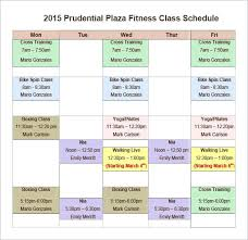 Class Timetable Template Extraordinary Weekly Workout Timetable Template Gym Class Schedule Lesson Plan