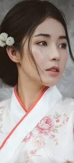 Beautiful Japanese girl, young woman ...