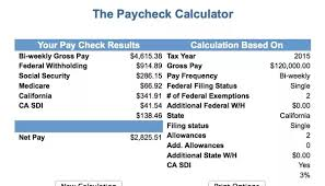 paycheck taxes calculator 2015 what is the net pay for a gross salary of 120 000 usd in california