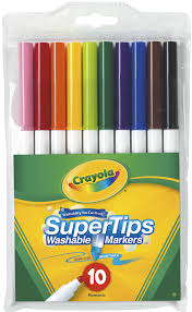 crayola washable super tips markers pack of 10 photo