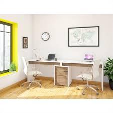 white walnut office furniture. 3 Drawer Computer Desk In White And Walnut Office Furniture