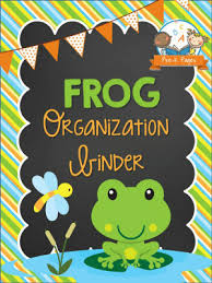 Frog Themed Behavior Chart Frog Organization Binder Pre K Pages