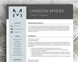 Modern Resume Template for Word and Pages (1, 2 & 3 Page Resumes +