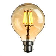 Light Bulb Shell Led Bayonet Edison Bulb Elfeland Edison Vintage Style Energy Saving Bulbs Amber Glass Shell 2200k Warm White 600lm B22 Bayonet Cap Lamp 6w