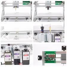 3 axis usb diy cnc 2418 router kit wood engraving carving pcb milling machine