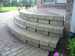 diy paver patio steps major brick step repair for patio porch building paver patio steps