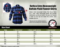 Rothco Pants Size Chart Flannel Size Chart Surplus Nation