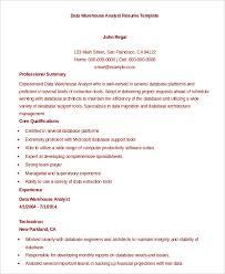 data-warehouse-analyst-resume-template
