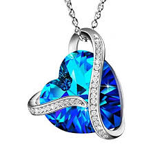 "Made with Swarovski Crystals ""<b>Heart</b> Of the <b>Ocean</b>"" 925 <b>Sterling</b> ..."