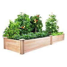 box garden. Greenes Fence 2 Ft. X 8 10.5 In Raised Garden Kit, Cedar Box