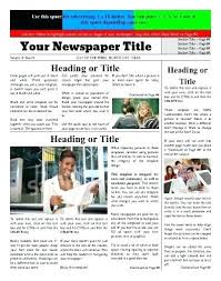 Newspaper Template No Download Newspaper Template Free Online Download Updrill Co