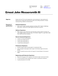 Audio engineer resume for a job resume of your resume 2