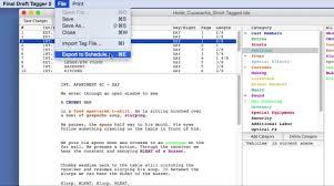 script breakdown sheet how to make a script breakdown sheet with final draft tagger