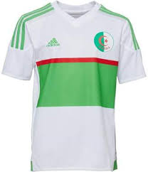 at mandmdirect com adidas boys algeria 3 stripe climacool football shirt white green red