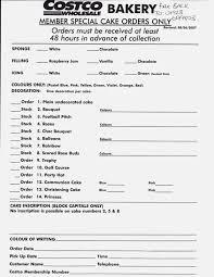 Costco Cake Order Form Cakepinscom Cakes Pinterest Order Form