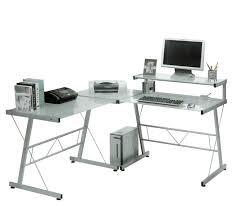 stunning glass computer desk corner magnificent home office design ideas with glass corner computer desk studiozine