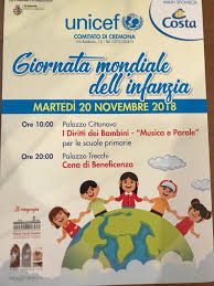 Giornata mondiale dell'Infanzia – 20 novembre 2018. | Istituto Comprensivo  Cremona Uno
