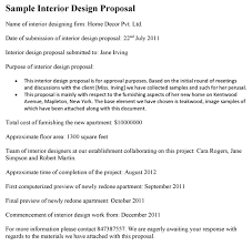 Design Proposal Sample Sample Proposal Interior Design Under Fontanacountryinn Com