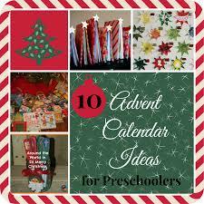 10 christmas advent calendar ideas for preschoolers