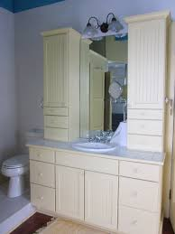 vintage bathroom cabinets for storage. Bathroom. White Counter Top With Sink Plus Wooden Drawers And Storage Beside Toilet Vintage Bathroom Cabinets For N