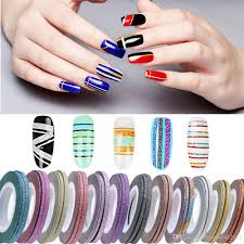 2017 New Frosted Line Nail Art Decoration Sticker Multi Colors ...