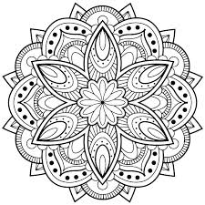 Mandala Coloring Pages Printable Free Flower Mandala Coloring Pages