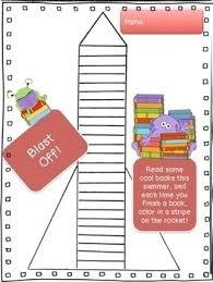 Summer Book Reading Chart Blast Off Easy Breezy Summer Reading Chart