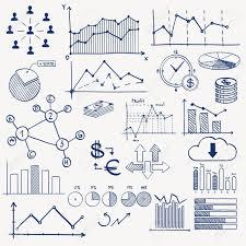 Business Finance Management Infographics Doodle Hand Draw Elements