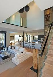 modern interior house. staircase - queens way modern living room interior house