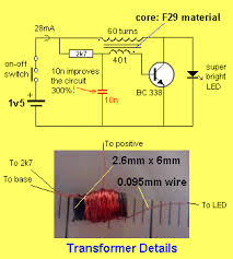 30 led projects white led on 1 5v supply this circuit will illuminate a white led using a single cell see led torch circuits article for more details