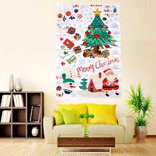 removable snowman snowflake santa kids art wall decal window sticker