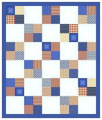 white square, blue outter edge, and one square made of two blue ... & Scrappy quilts Adamdwight.com