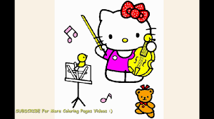 We are always adding new ones, so make sure to come back and check us out or make a suggestion. Watch Hello Kitty Plays Violin Music Coloring Page For Toddlers Youtube