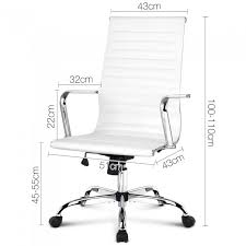 eames reproduction office chair. eames replica pu leather high back executive computer office chair white reproduction