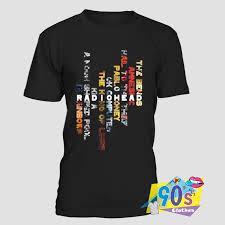 Vertical T Shirt Design Radiohead Vertical Design Colorful T Shirt