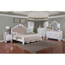 white furniture in bedroom. Best Quality Furniture Glam White 4-piece Bedroom Set In N