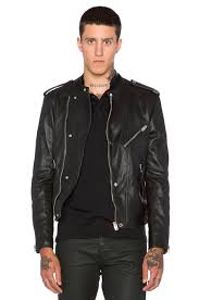 the kooples washed lamb leather motorcycle jacket in black