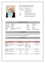 Resume Syafika Rusly 2016