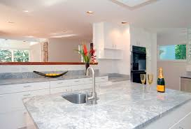 modern white quartzite countertops