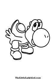 Small Picture Free Yoshi coloring page TheLittleLadybirdcom