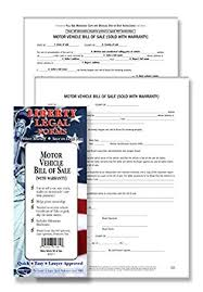 Amazon.com : Motor Vehicle Bill Of Sale - Usa - Do-It-Yourself Legal ...